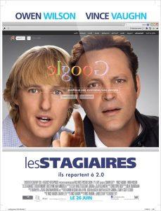 Affiche film Les Stagiaires - Owen Wilson - Vince Vaughn
