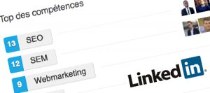 Competences webmarketing profil Linkedin