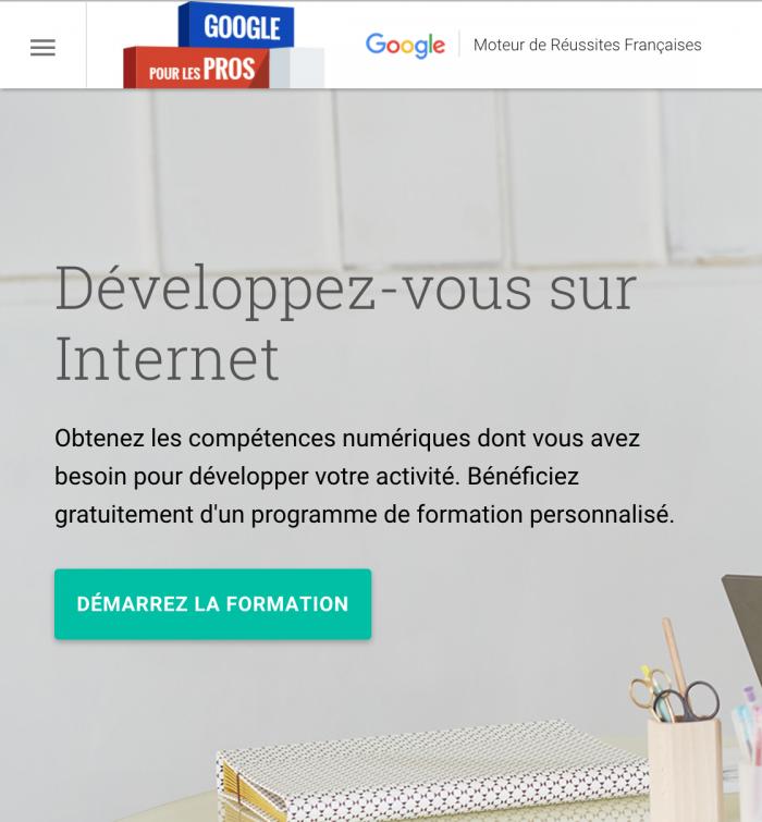 Formation gratuite au digital avec Google