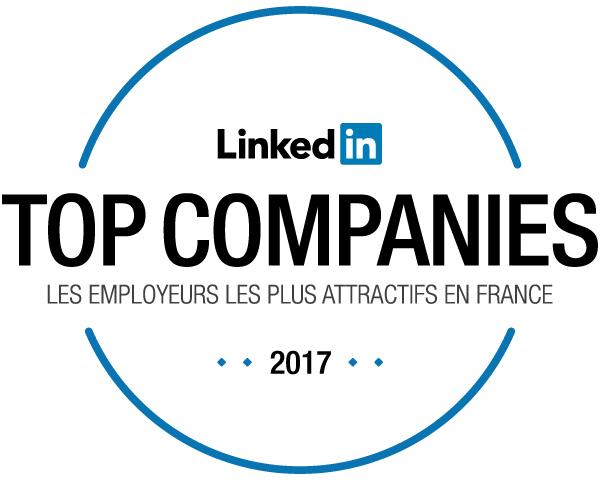 LinkedIn - Classement des top entreprises en France en 2017
