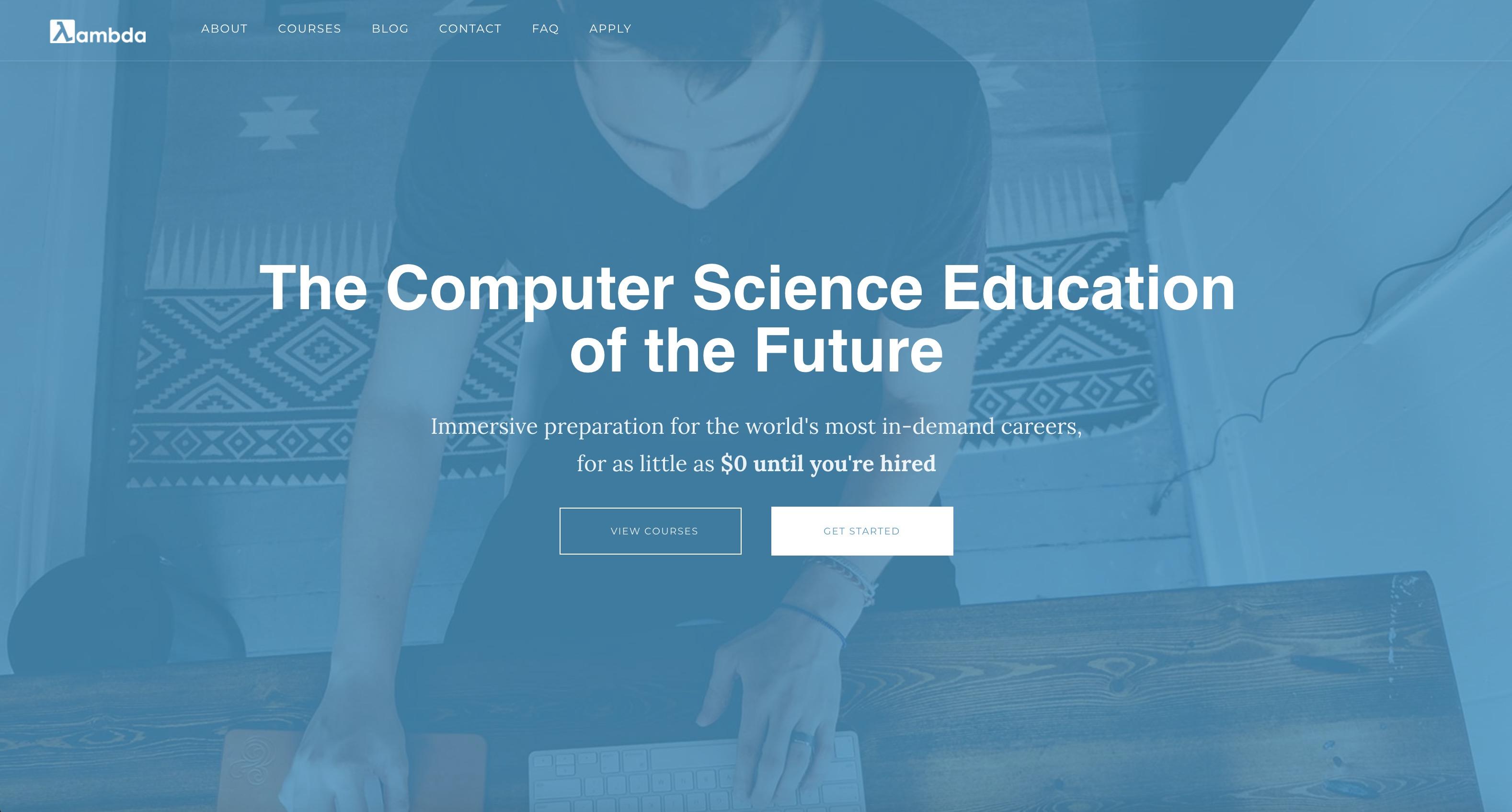 Lambda School - Ecole de programmation web aux Etats-Unis