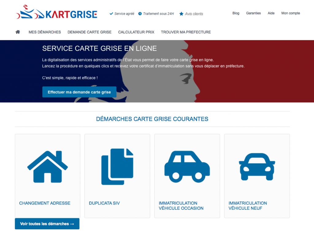 Service de carte grise en ligne - Kartgrise