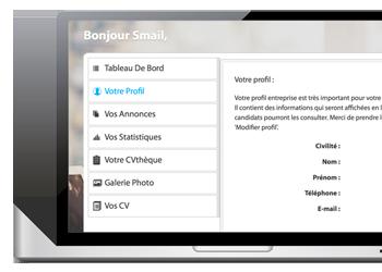Espace recruteur complet pour vos recrutements webmarketing et e-commerce